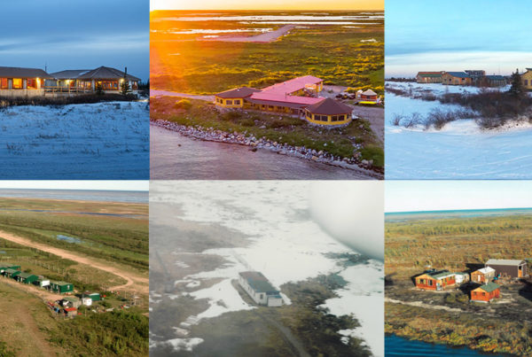 Churchill Wild lodges. Then and now.