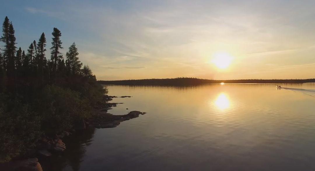 Sunset at North Knife Lake.