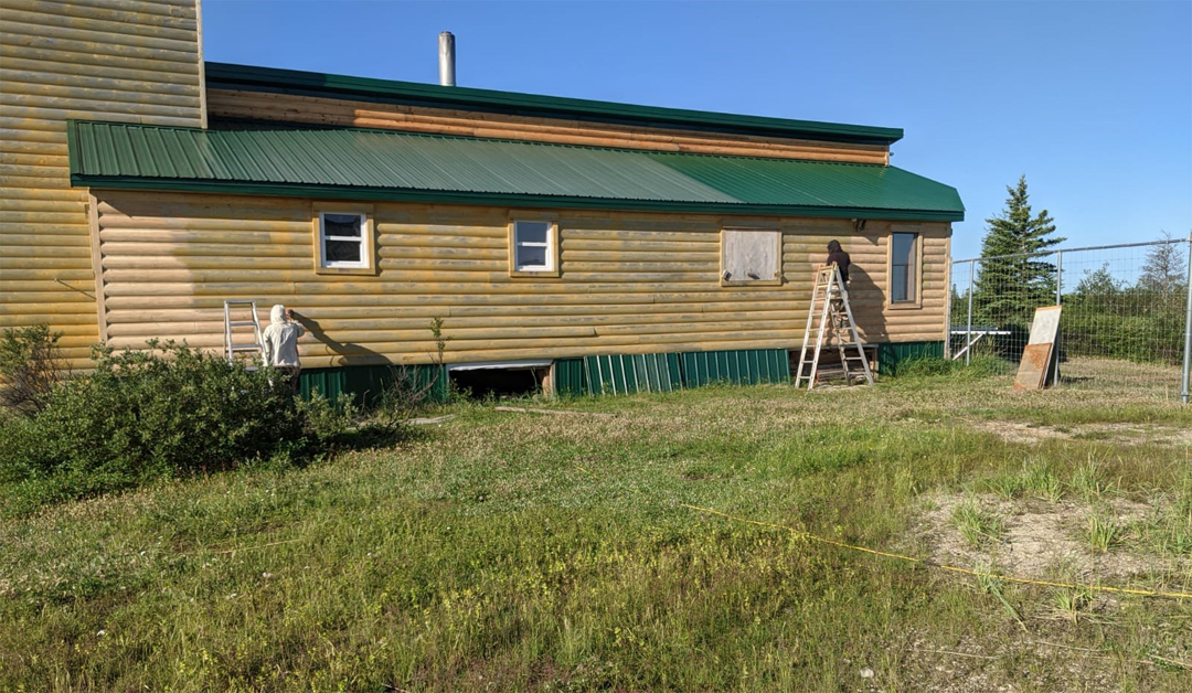 Long days and tedious work at Dymond Lake Ecolodge. Readying for the future!