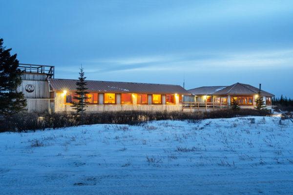 Blue hour at Nanuk Polar Bear Lodge. Scott Zielke photo.