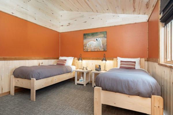 twin guest room. Churchill Wild. Nanuk Polar Bear Lodge. Scott Zielke photo.