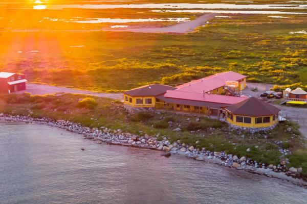 Aerial of Seal River Heritage Lodge. Michael Poliza photo.