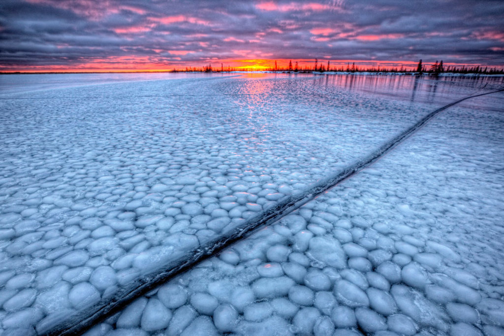 Dymond lake ice formation. Robert Postma photo.