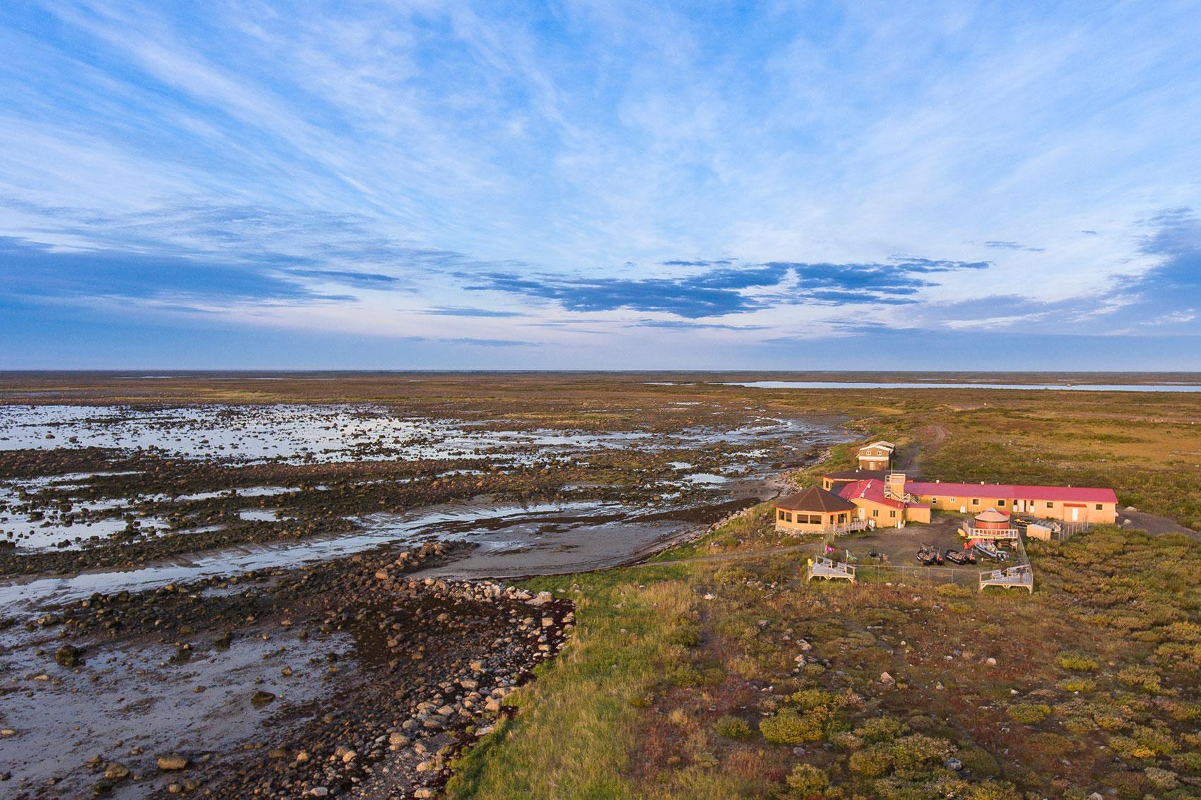 Aerial of Seal River heritage Lodge.