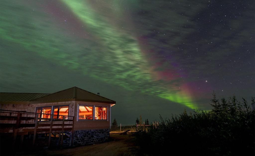 Aurora. Nanuk Polar Bear Lodge. Charles Glatzer photo.