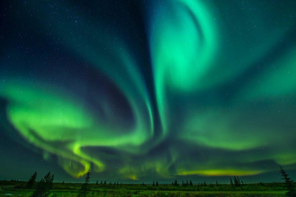 Northern lights. Nanuk Polar Bear Lodge. Jad Davenport photo.